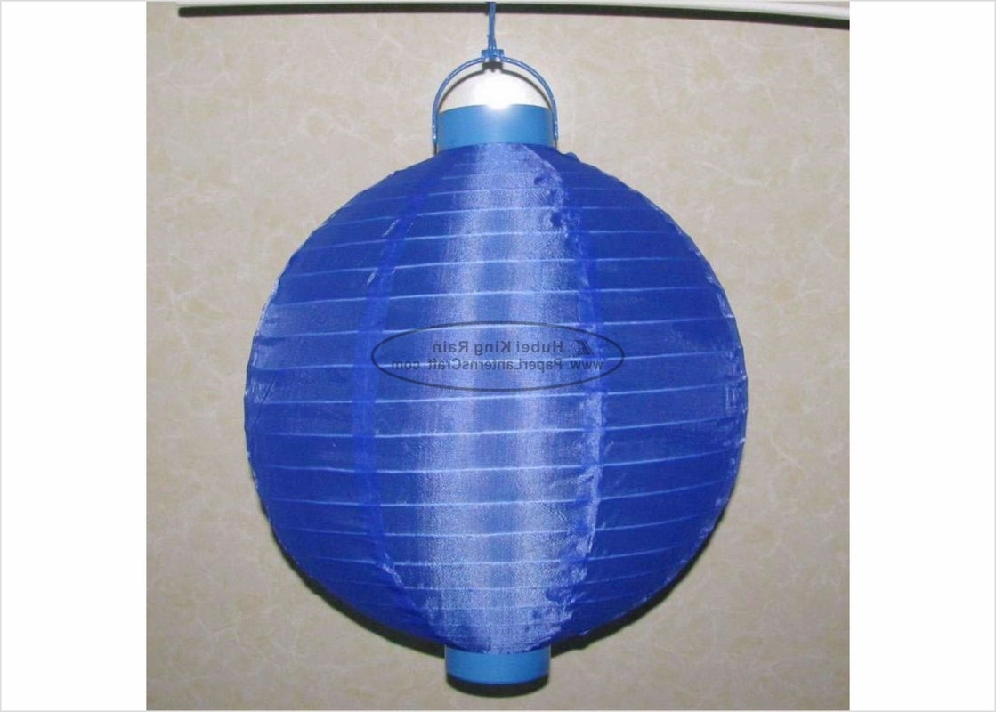 Well Known Blue Outdoor Lanterns Intended For 30 Cm Led Paper Lanterns Battery Operated , Silk Nylon Fabric (View 11 of 20)