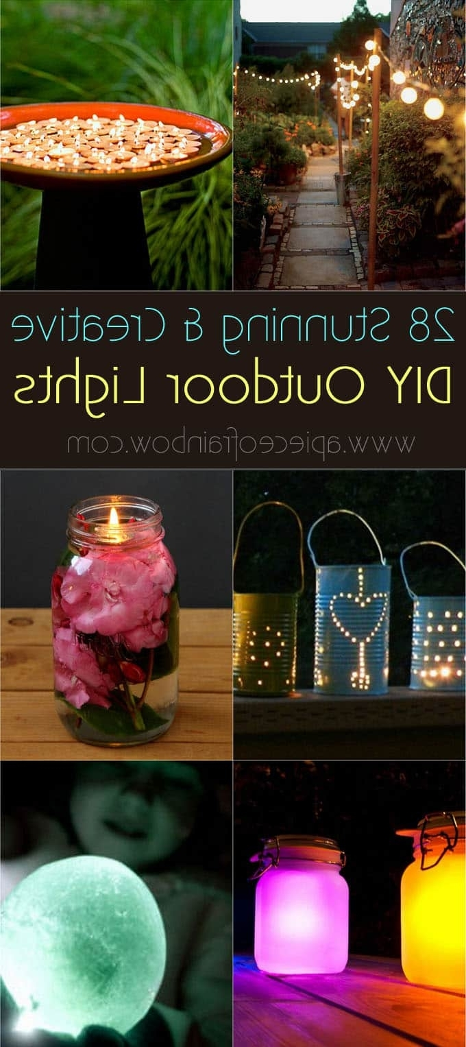 Well Known Diy Outdoor Lanterns Throughout 28 Stunning Diy Outdoor Lighting Ideas ( & So Easy! ) – A Piece Of (View 20 of 20)