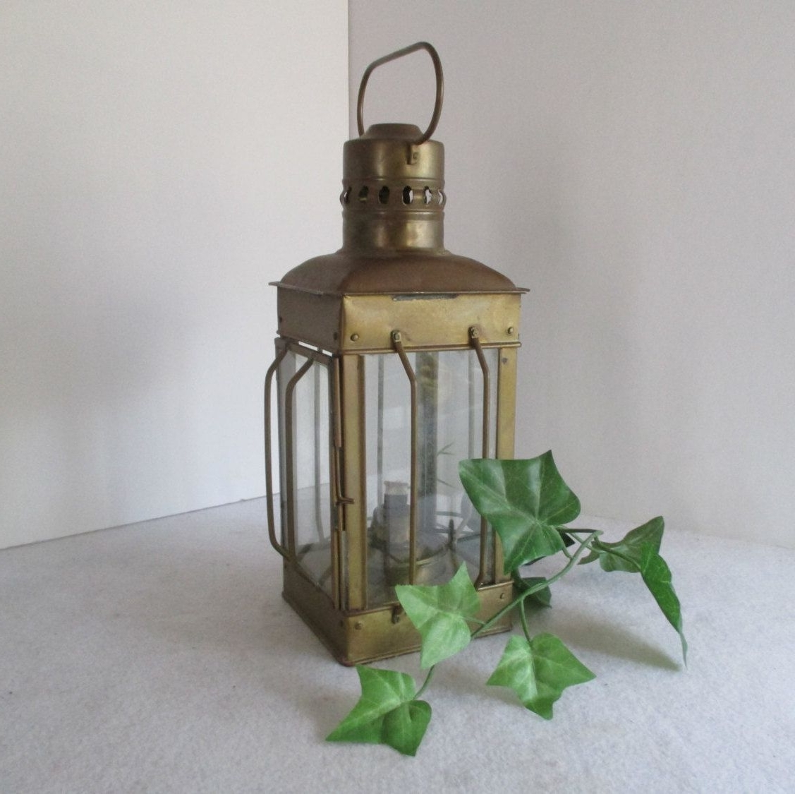 Well Known Etsy Outdoor Lanterns For Lantern, Vintage Alcohol Or Candle Hurricane Lamp, Metal, Hanging (View 2 of 20)