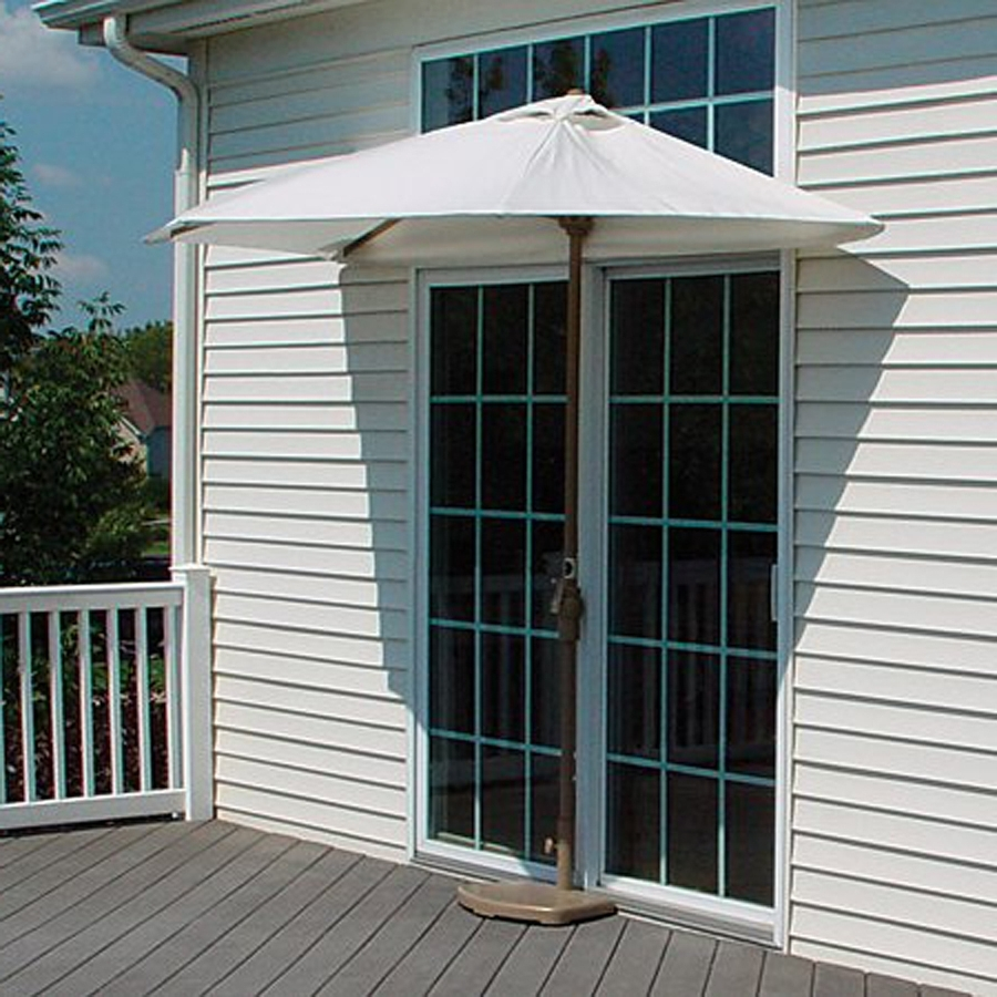 Well Known Half Patio Umbrellas For Shop Blue Star Group Brella Natural Half Round  (View 20 of 20)
