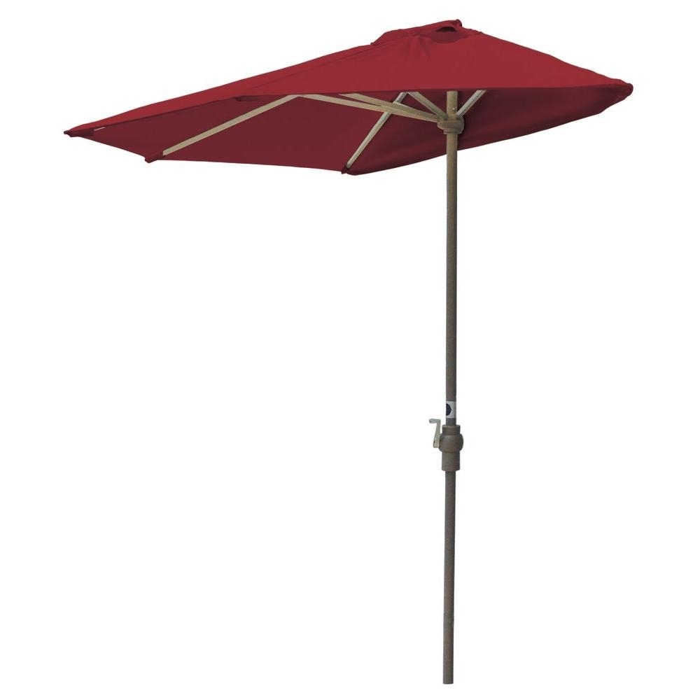 Well Known Hampton Bay Offset Patio Umbrellas Throughout 48 9 Ft Red Patio Umbrella, Hampton Bay Belleville 8 Ft Patio (View 19 of 20)