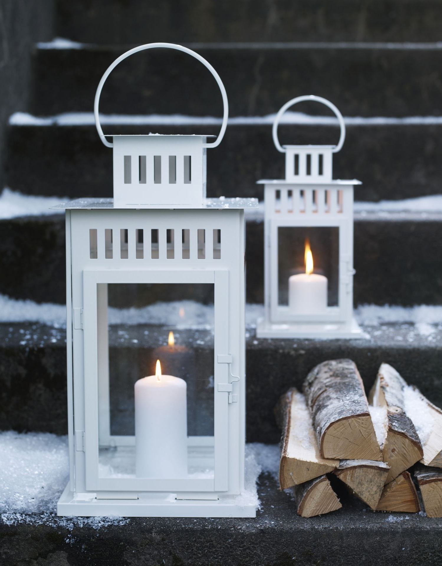 Well Known Ikea Outdoor Lanterns With Regard To Borrby Lanterna P/vela Grossa, Preto Interior/exterior Preto (View 16 of 20)