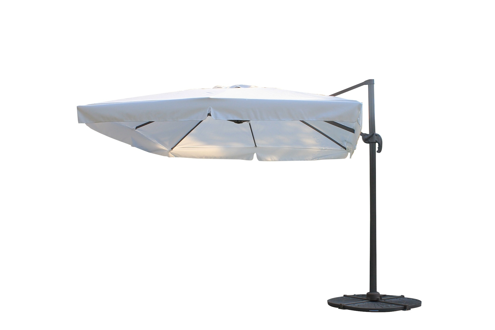 Well Known Kontiki Shade & Cooling Offset Patio Umbrellas 10 Ft Square Offset Intended For Square Patio Umbrellas (View 19 of 20)