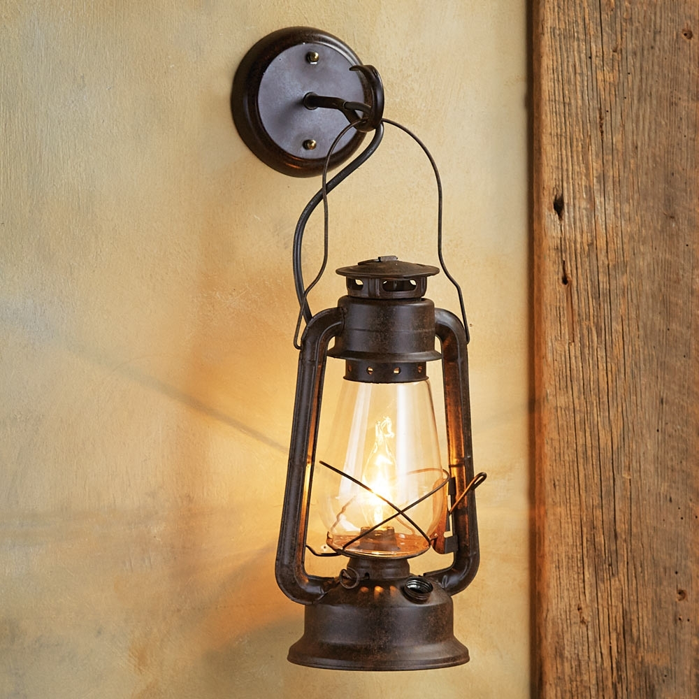 Well Known Large Outdoor Rustic Lanterns For Enthralling Large Rustic Lantern Wall Sconce Lights With Pulley (View 18 of 20)
