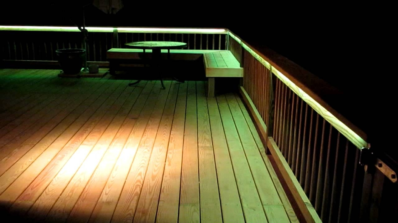 Well Known Led Deck Lighting – Youtube With Regard To Outdoor Deck Lanterns (View 18 of 20)