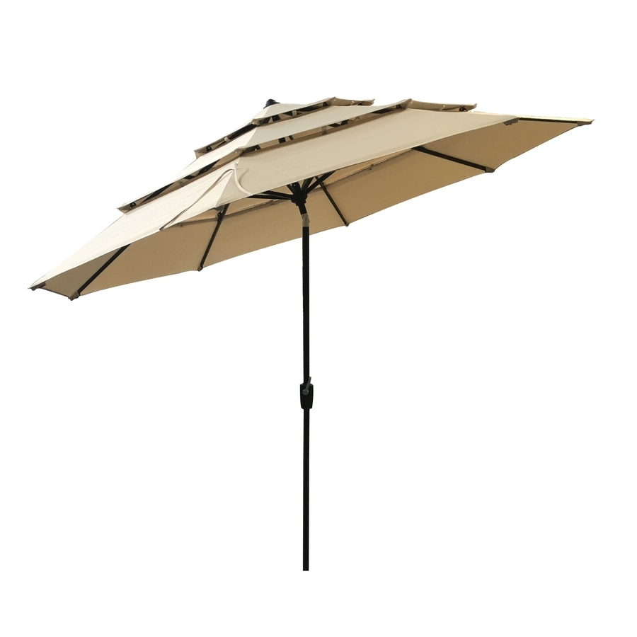 Well Known Lowes Patio Umbrellas Pertaining To Patio: Setting Your Patio Decoration With Lowes Patio Umbrella (View 9 of 20)