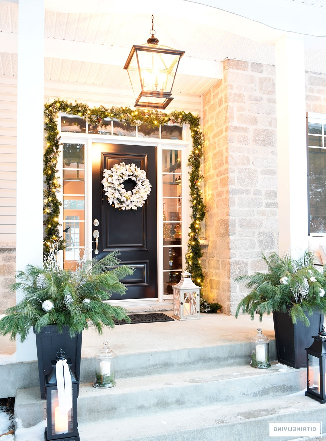 Well Known Outdoor Christmas Decor And New Lighting With The Most Stylish Front Inside Outdoor Lanterns For Front Porch (View 11 of 20)