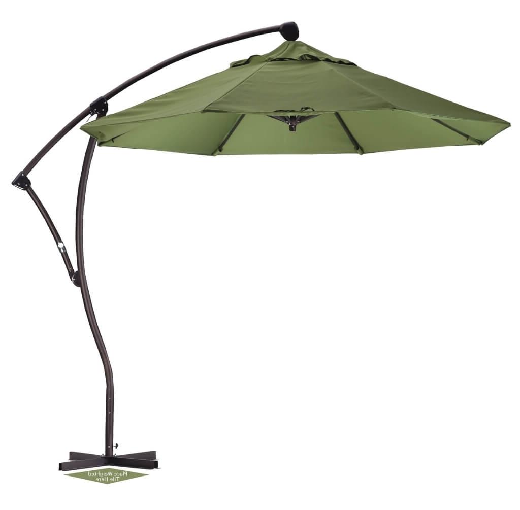 Well Known Outdoor & Garden: Green Patio Cantilever Umbrella – Best Cantilever With Regard To Sams Club Patio Umbrellas (View 20 of 20)