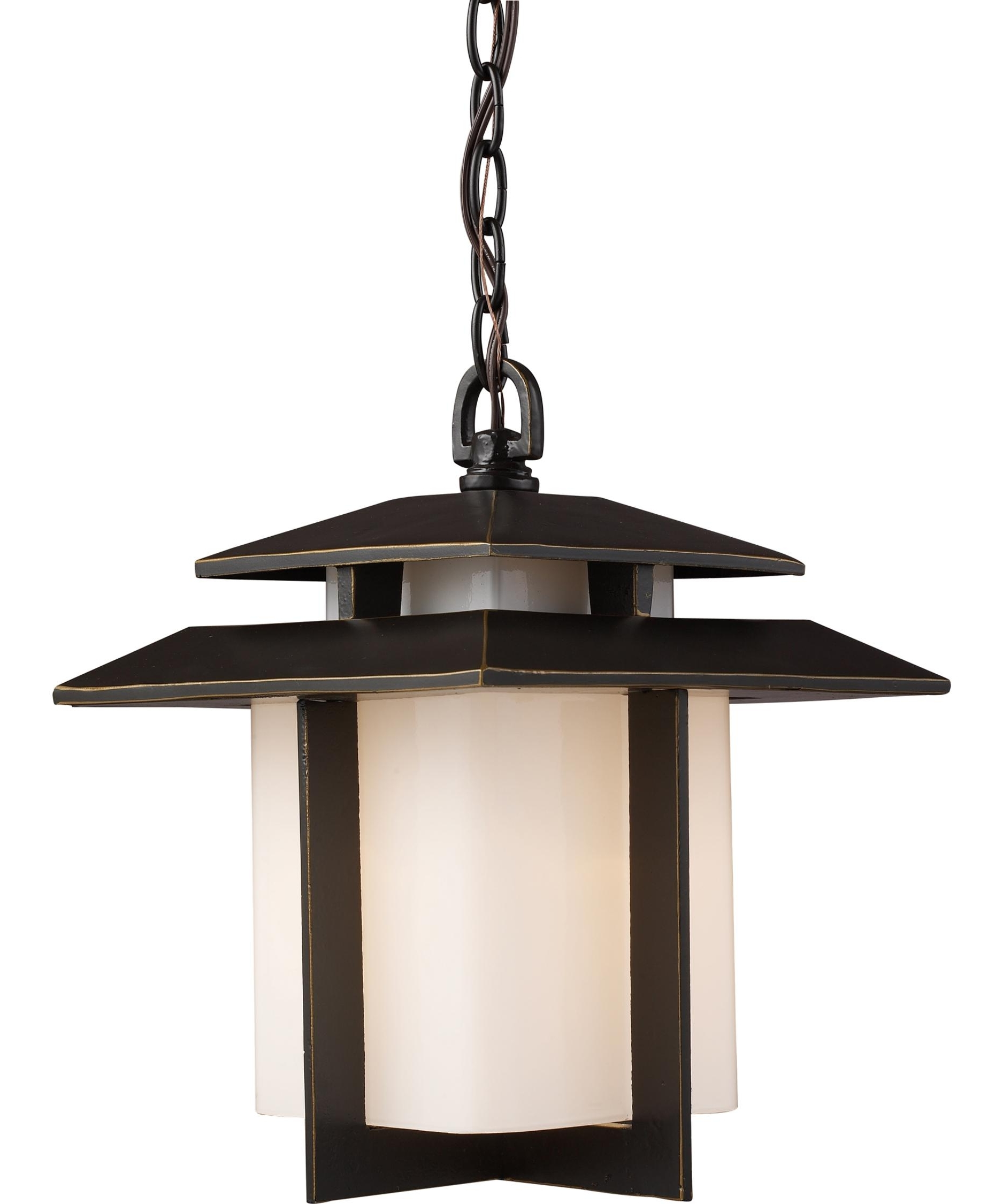 Well Known Outdoor Japanese Lanterns For Sale Throughout Elk Lighting 42172 1 Kanso 10 Inch Wide 1 Light Outdoor Hanging (View 13 of 20)