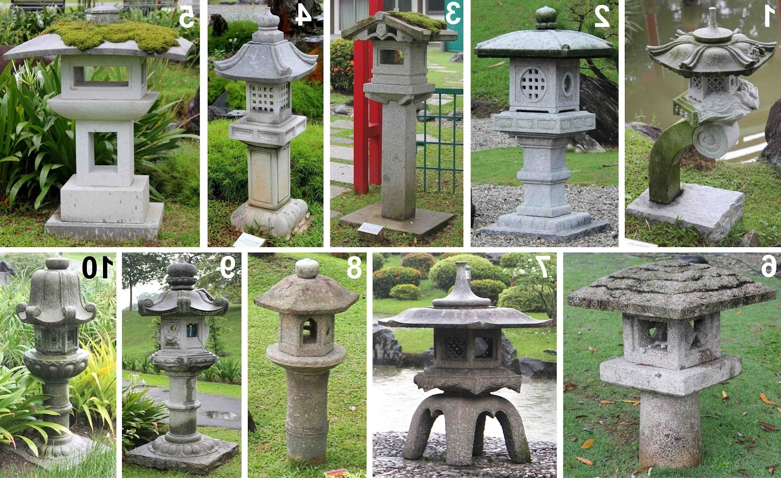 Well Known Outdoor Japanese Lanterns With Outdoor Japanese Lamp New Bonsai Skosh Stone Lanterns At Singapore (View 19 of 20)