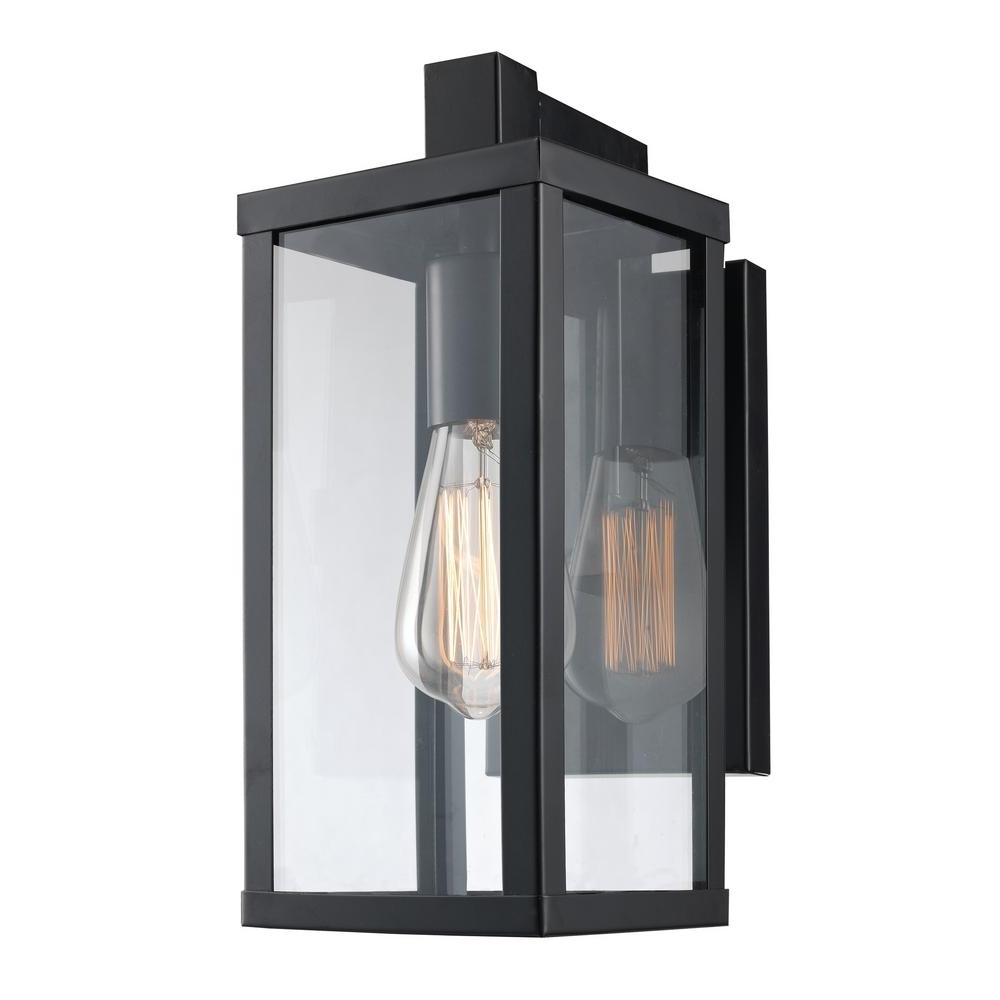 Well Known Outdoor Lanterns And Sconces Throughout Bel Air Lighting Oxford 1 Light Black Outdoor Wall Mount Lantern (View 14 of 20)