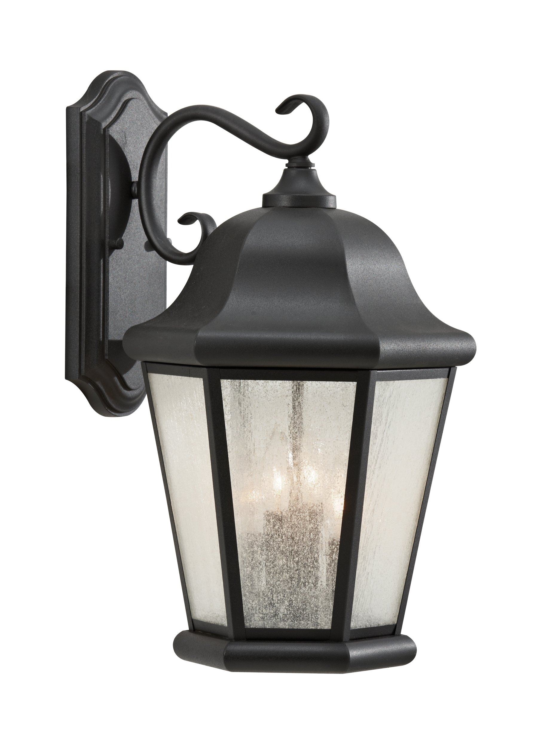 Well Known Outdoor Lanterns On Stands In Ol5904bk,4 Light Outdoor Lantern,black (View 16 of 20)