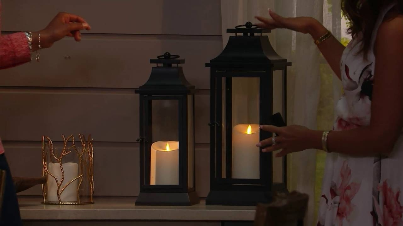 Well Known Outdoor Luminara Lanterns In Luminara Heritage Indoor Outdoor Lantern With Flameless Candle (View 17 of 20)