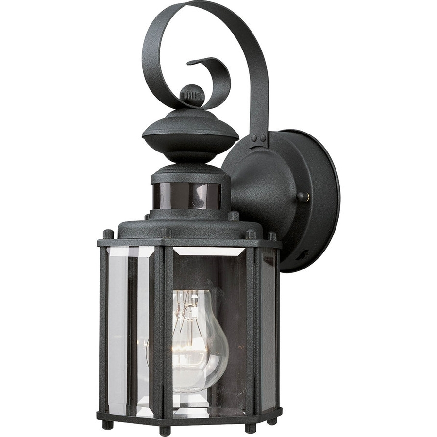 Well Known Outdoor Motion Lanterns With Shop Progress Lighting Motion Sensor 13 In H Black Motion Activated (View 17 of 20)