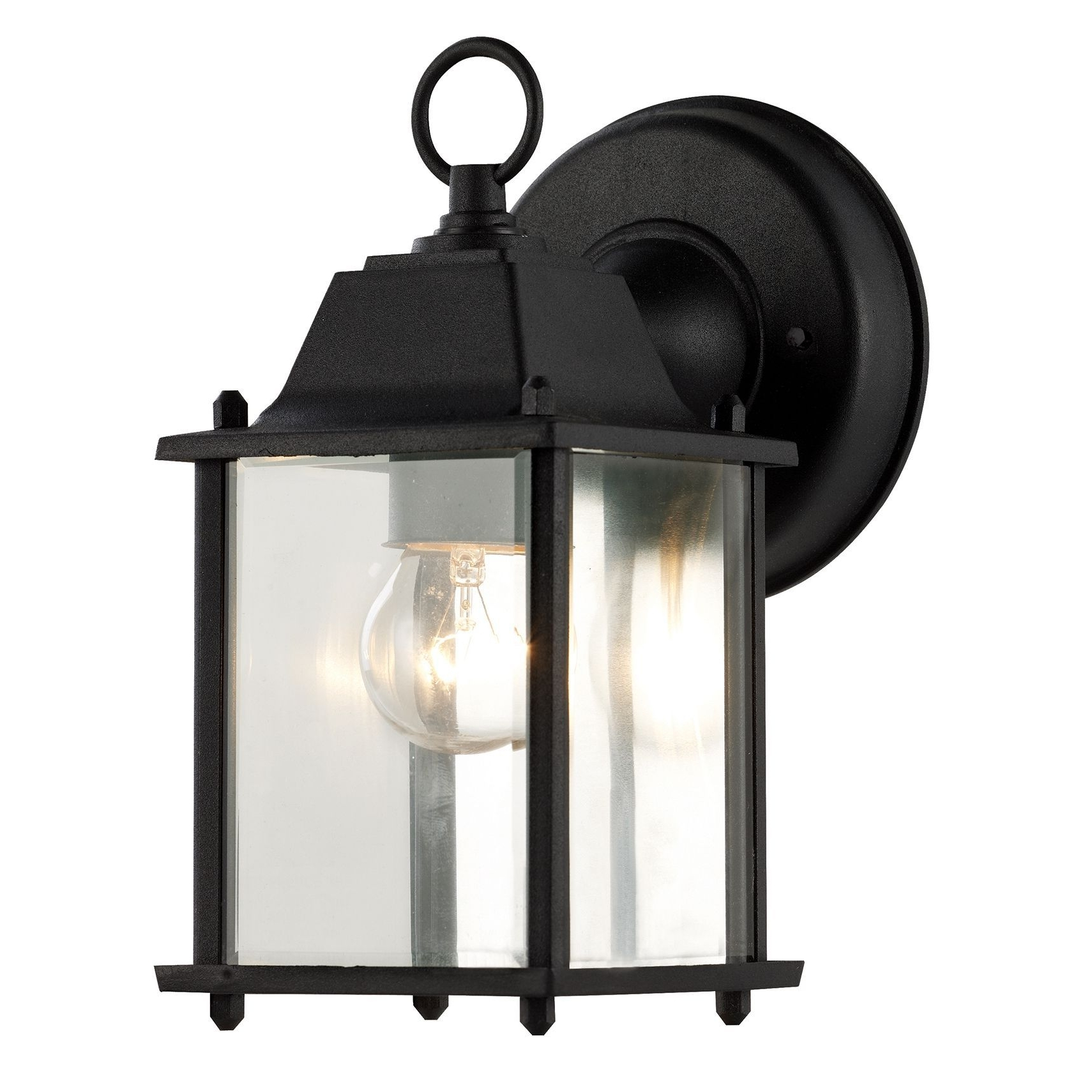 Well Known Outdoor Weather Resistant Lanterns Pertaining To Bel Air Lighting Cb 40455 Bk 1 Light Porch Light With Clear Beveled (View 8 of 20)