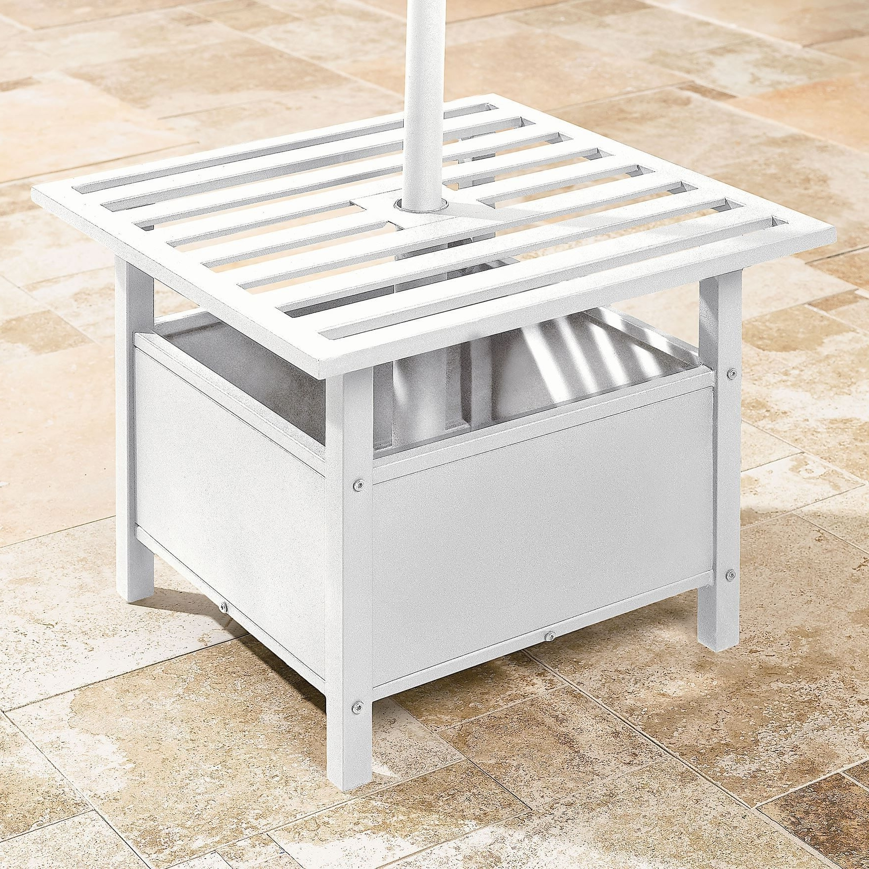 Well Known Patio Umbrella Side Tables Pertaining To 45 Patio Umbrella Stand Side Table, Hampton Umbrella Side Tables (View 19 of 20)
