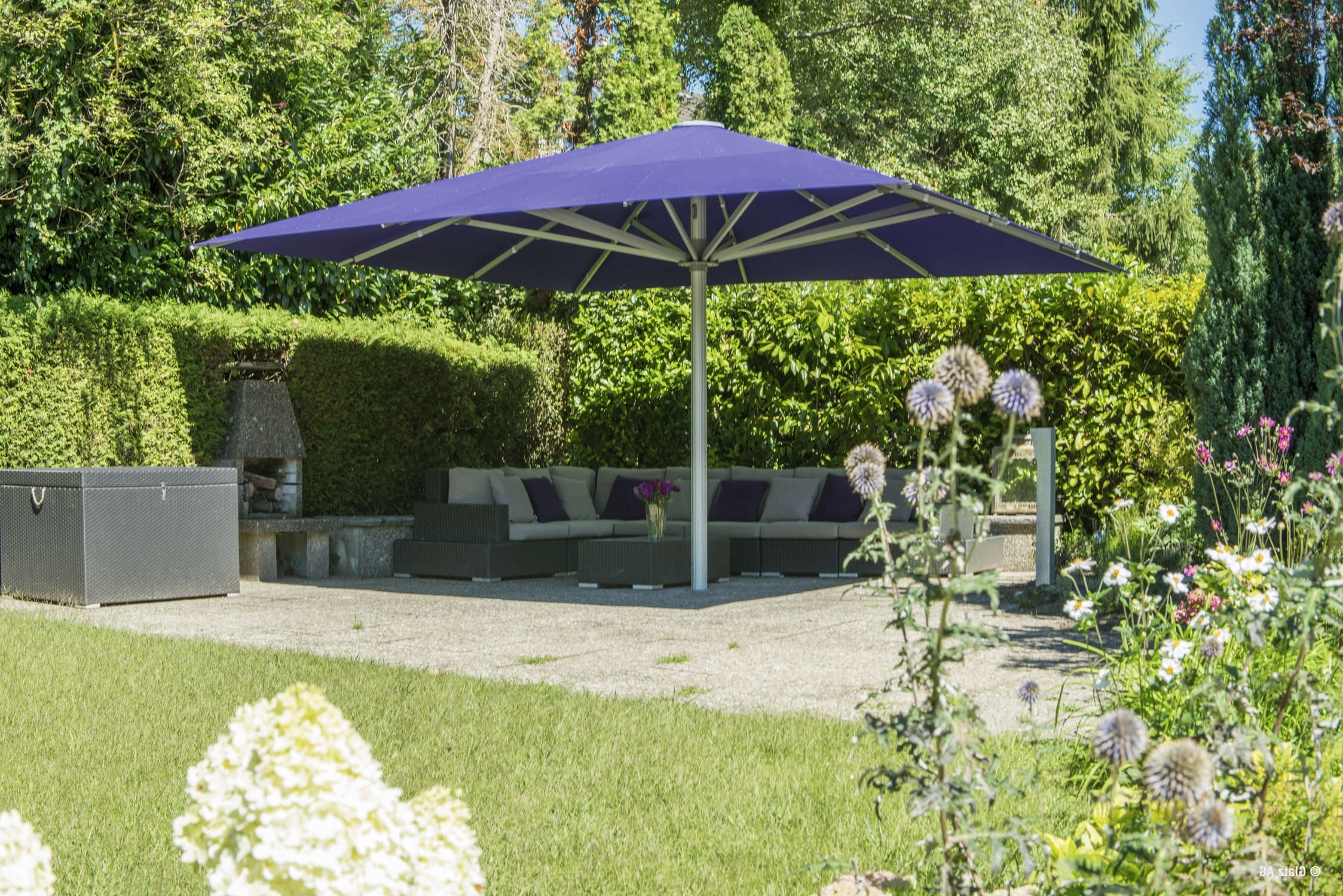 Well Known Patio Umbrellas For Windy Locations Regarding High Wind Patio Umbrellas • Patio Ideas (View 8 of 20)