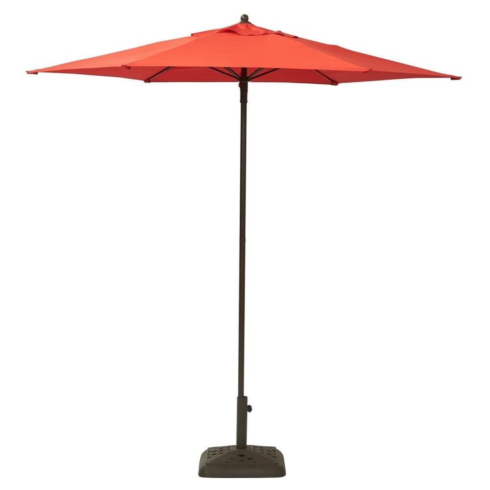 Well Known Patio Umbrellas With Fans Pertaining To Hampton Bay 7 1/2 Ft (View 15 of 20)