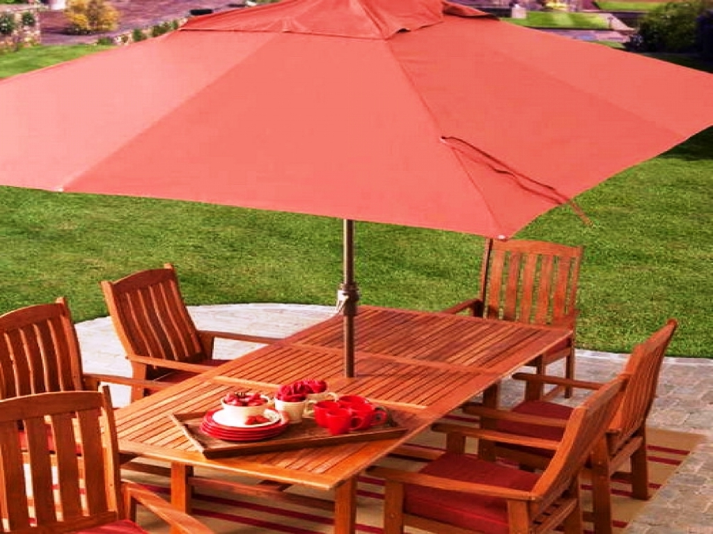 Well Known Rectangular Patio Umbrellas Throughout Interesting Patio Large Umbrella Together With Patio In Patio With (View 20 of 20)