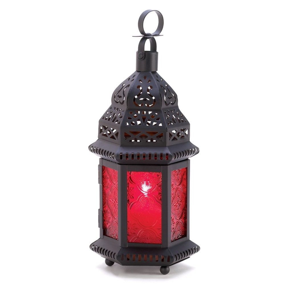 Featured Photo of Red Outdoor Table Lanterns