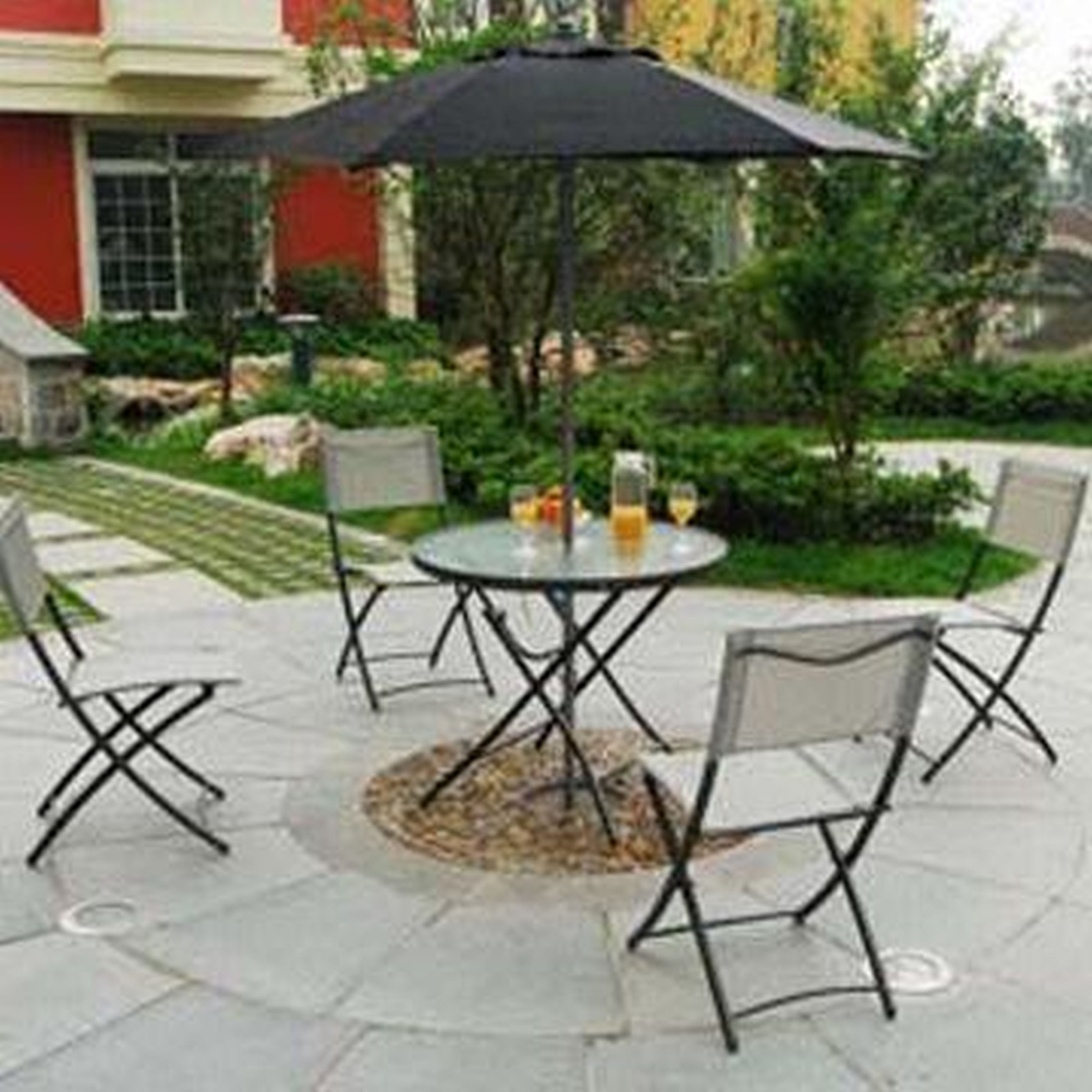 Well Known Small Patio Tables With Umbrellas With Regard To Confortable Patio Table Umbrella In Small Patio Furniture Sets (View 20 of 20)