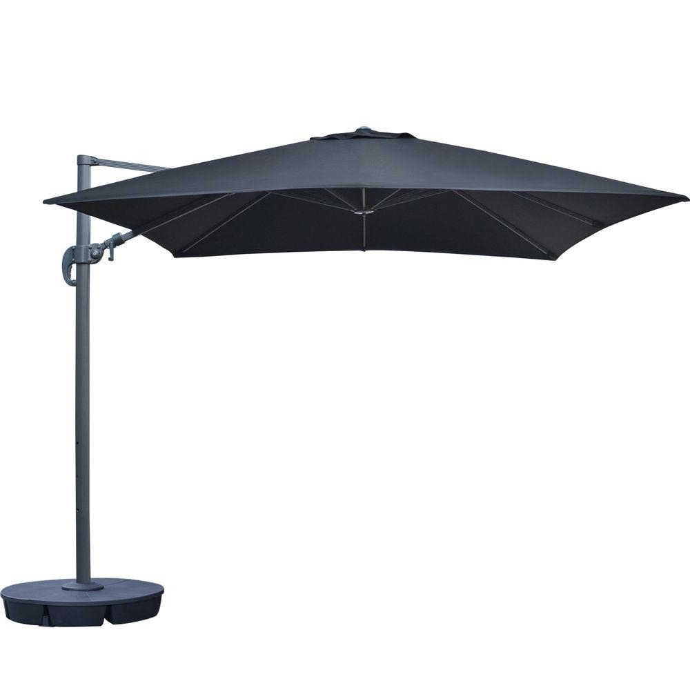 Well Known Sunbrella Black Patio Umbrellas Intended For Island Umbrella Santorini Ii 10 Ft (View 19 of 20)