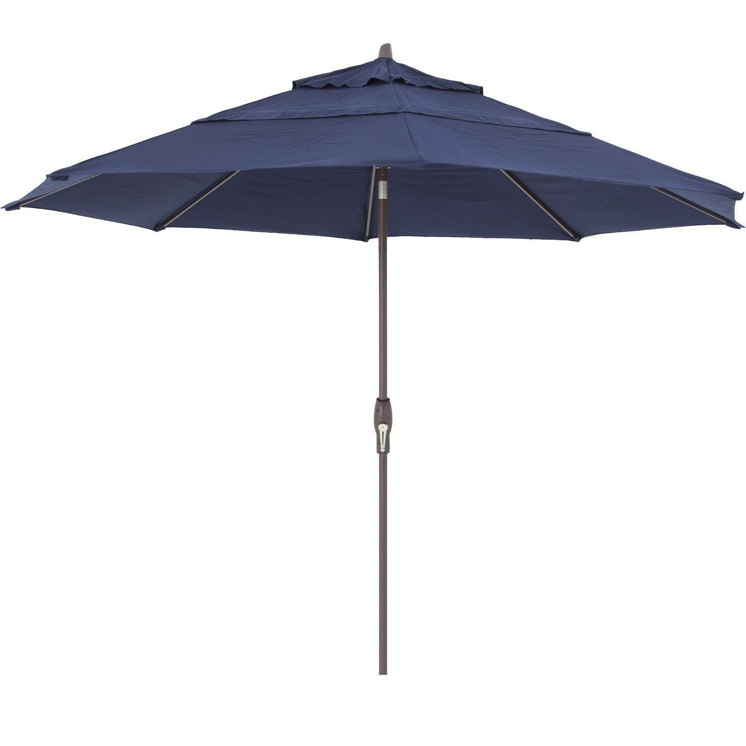 Well Known Treasure Garden 11 Ft. Octagonal Aluminum Auto Tilt Patio Umbrella W With Regard To 11 Ft (View 9 of 20)