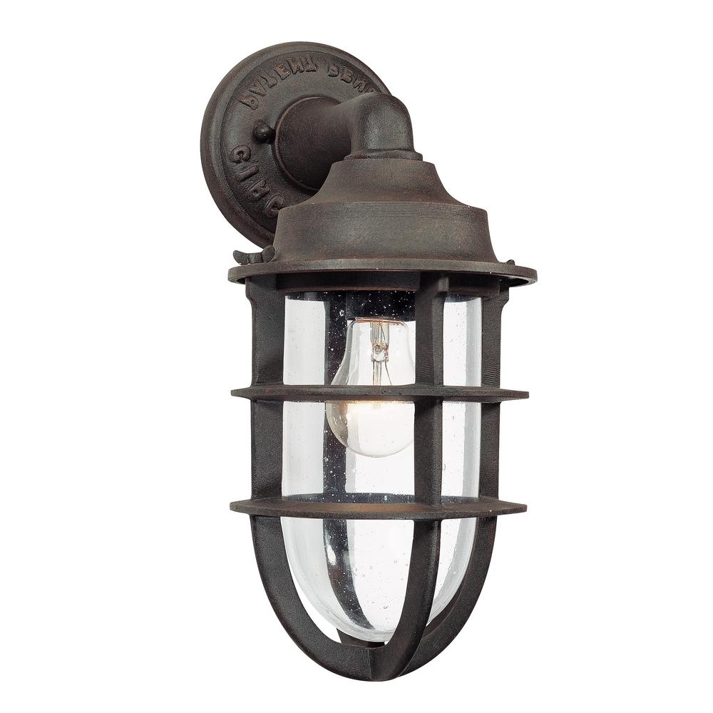 Well Known Troy Lighting Wilmington Nautical Rust Outdoor Wall Mount Lantern In Antique Outdoor Lanterns (View 10 of 20)