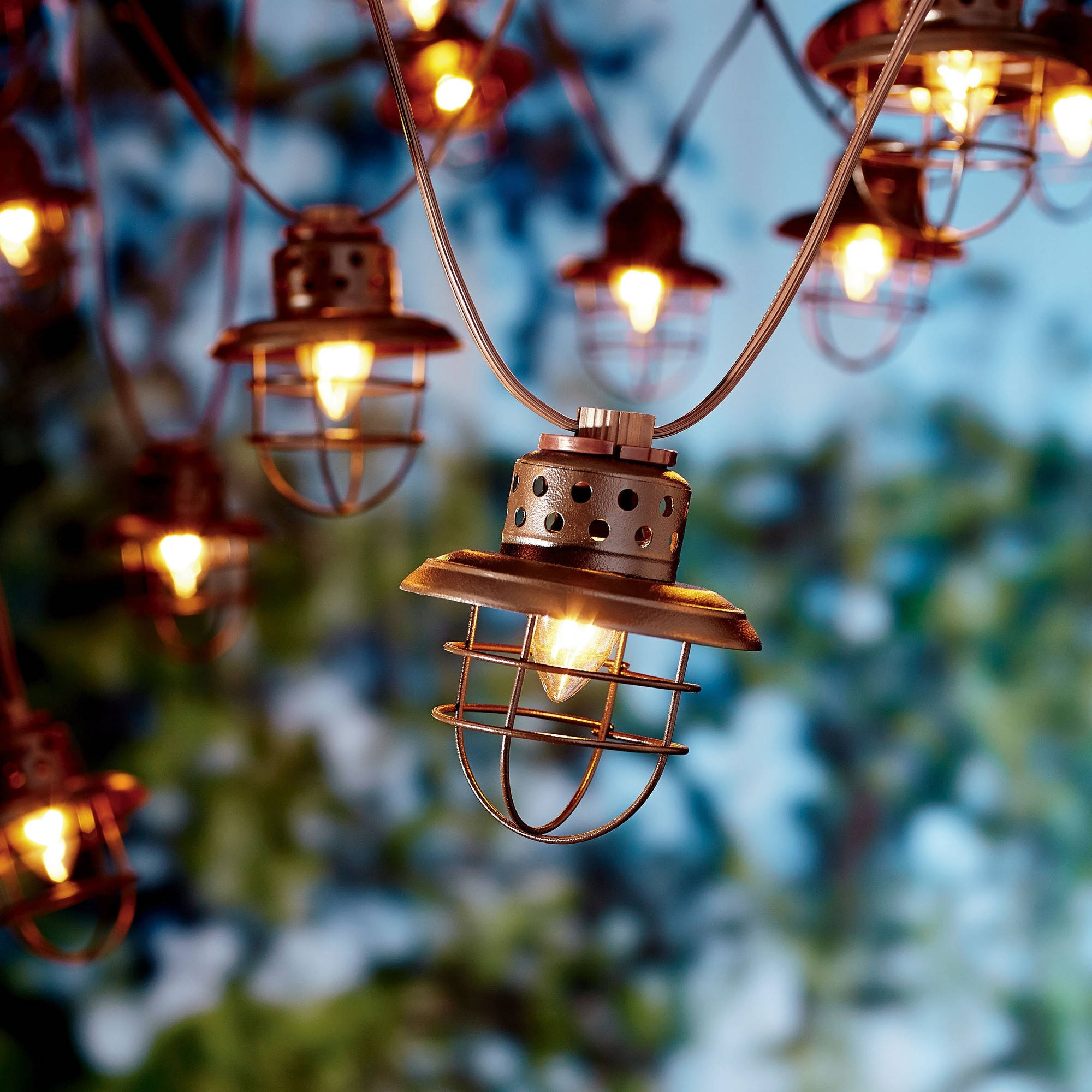 Well Known Vintage Outdoor Lanterns Within Better Homes And Gardens Outdoor Vintage Cage Lantern String Lights (View 17 of 20)
