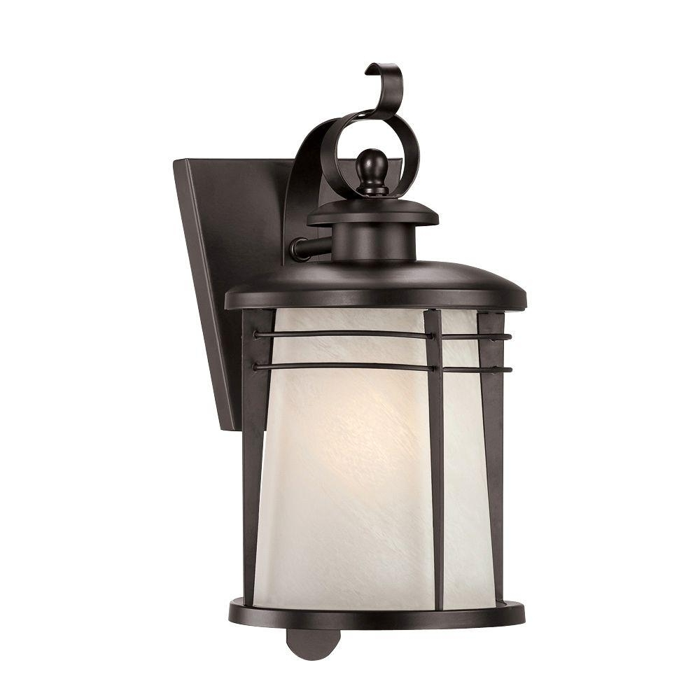 Well Known Westinghouse Senecaville Wall Mount 1 Light Weathered Bronze Outdoor Intended For Wall Mounted Outdoor Lanterns (View 17 of 20)