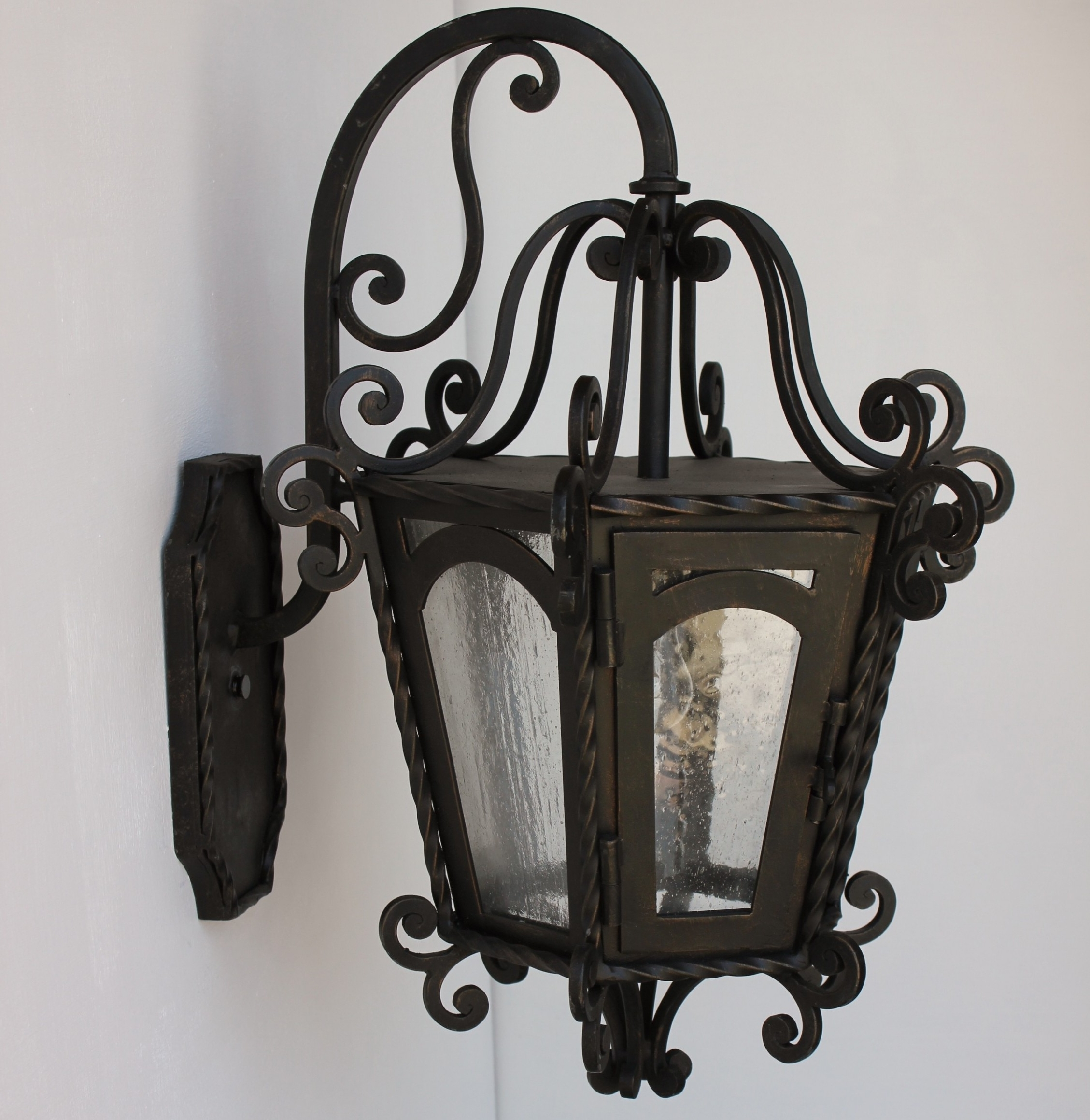 Well Known Wrought Iron Light Fixtures — Foothillfolk Designs Throughout Outdoor Cast Iron Lanterns (View 12 of 20)