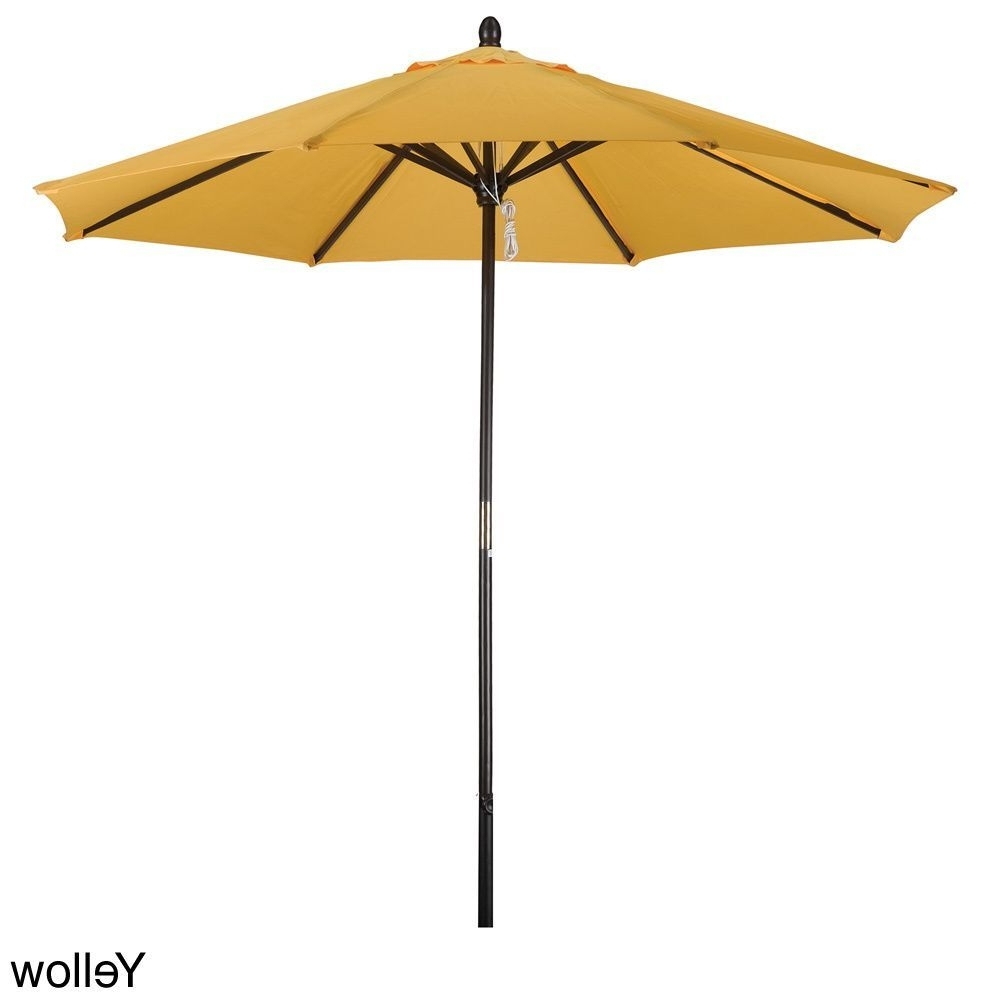 Well Known Yellow Sunbrella Patio Umbrellas Throughout Phat Tommy 9 Foot Market Umbrella (blue) (polyester) #304 9ft (View 7 of 20)