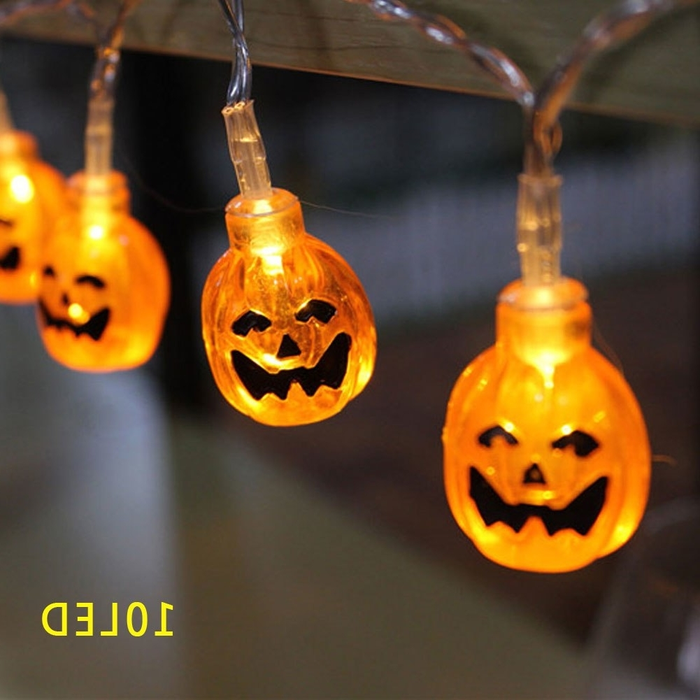 Well Liked 3d Pumpkin Lantern Stip Led String Light Halloween Decor 10led In Outdoor Pumpkin Lanterns (View 6 of 20)