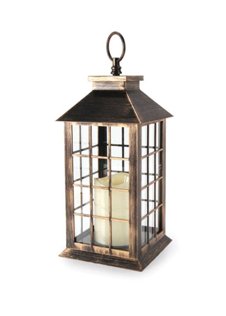 Well Liked Antique Gold Lantern With Battery Operated Candle – 11 (Gallery 7 of 20)