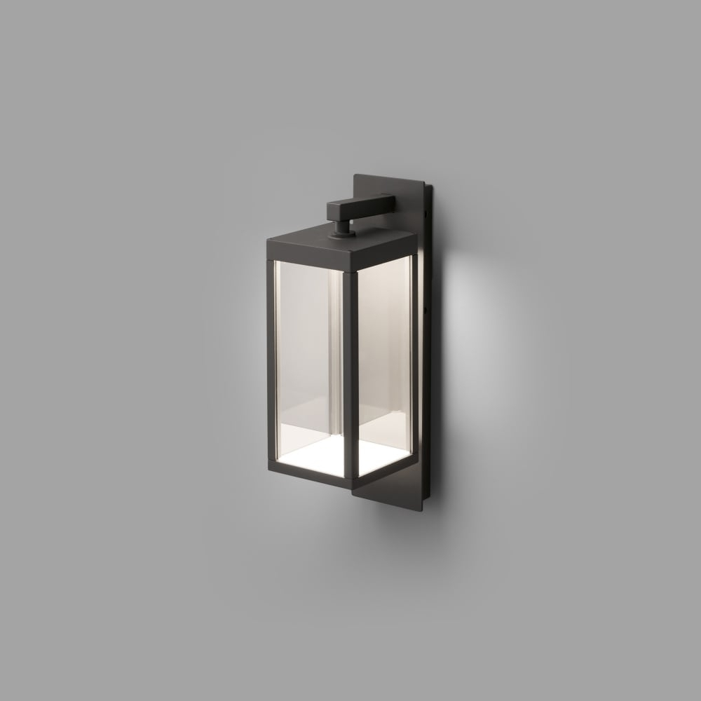 Well Liked Contemporary Dark Grey Led Outdoor Wall Lantern (View 18 of 20)