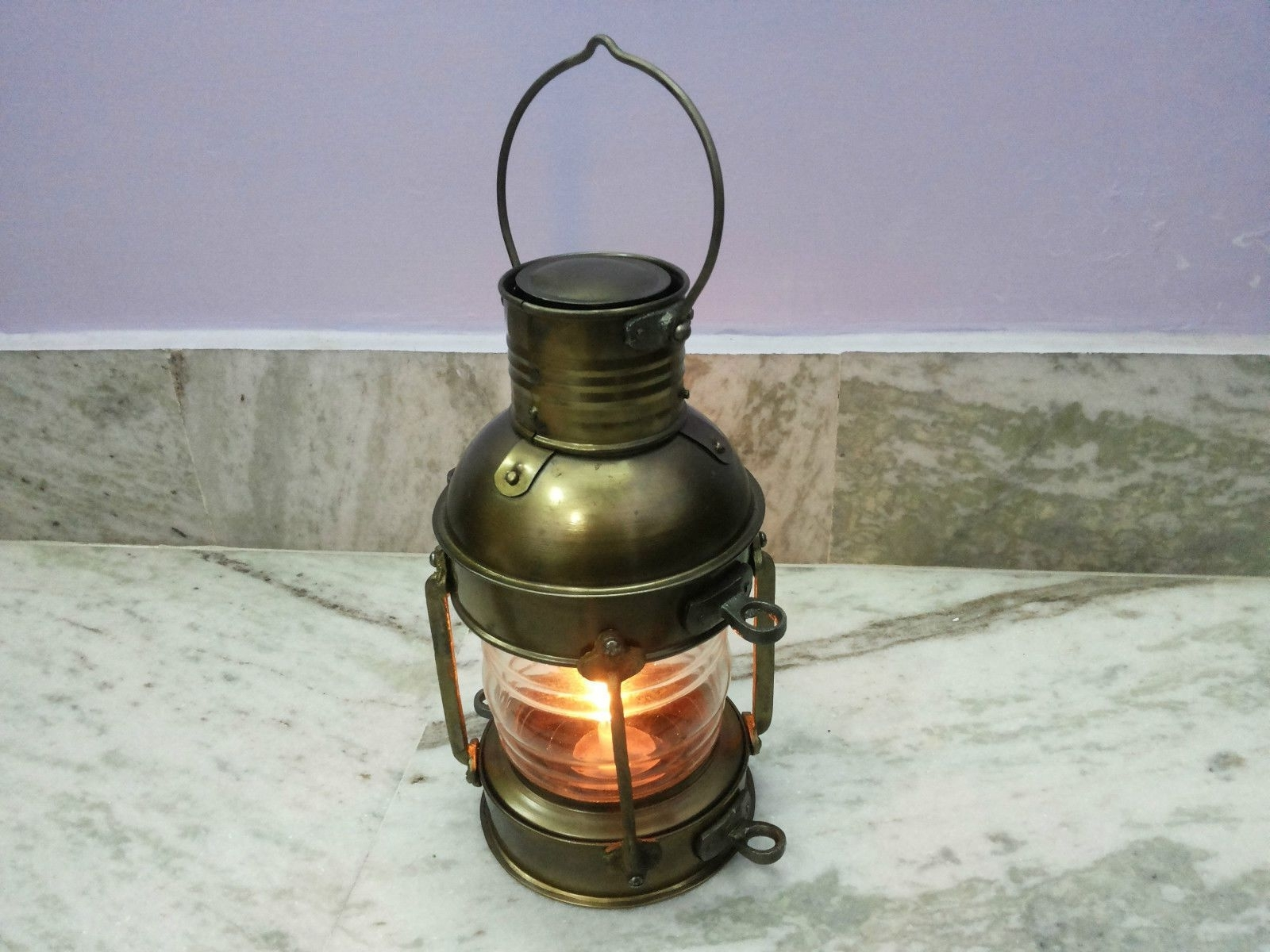 Well Liked Decorative Outdoor Kerosene Lanterns In Antique Nautical Ship Oil Lantern Lamp For Home Collectible (View 16 of 20)