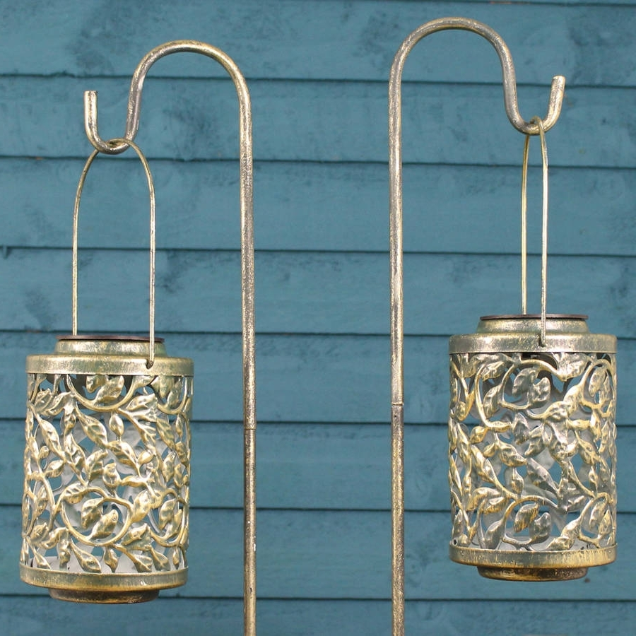 Well Liked Gold Outdoor Lanterns Intended For Garden Lights And Lanterns (View 4 of 20)