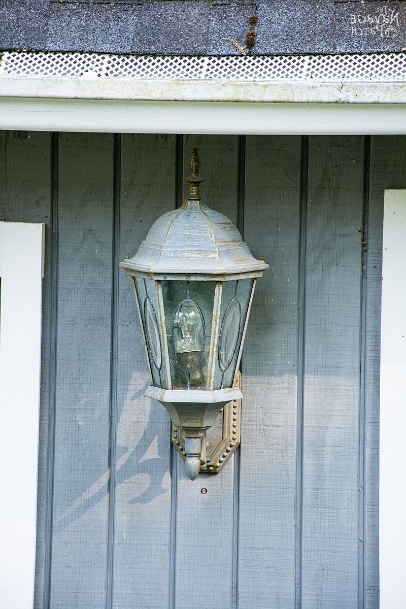 Well Liked How To Add A Light Sensor To Outdoor Lanterns – The Navage Patch Pertaining To Blue Outdoor Lanterns (View 15 of 20)