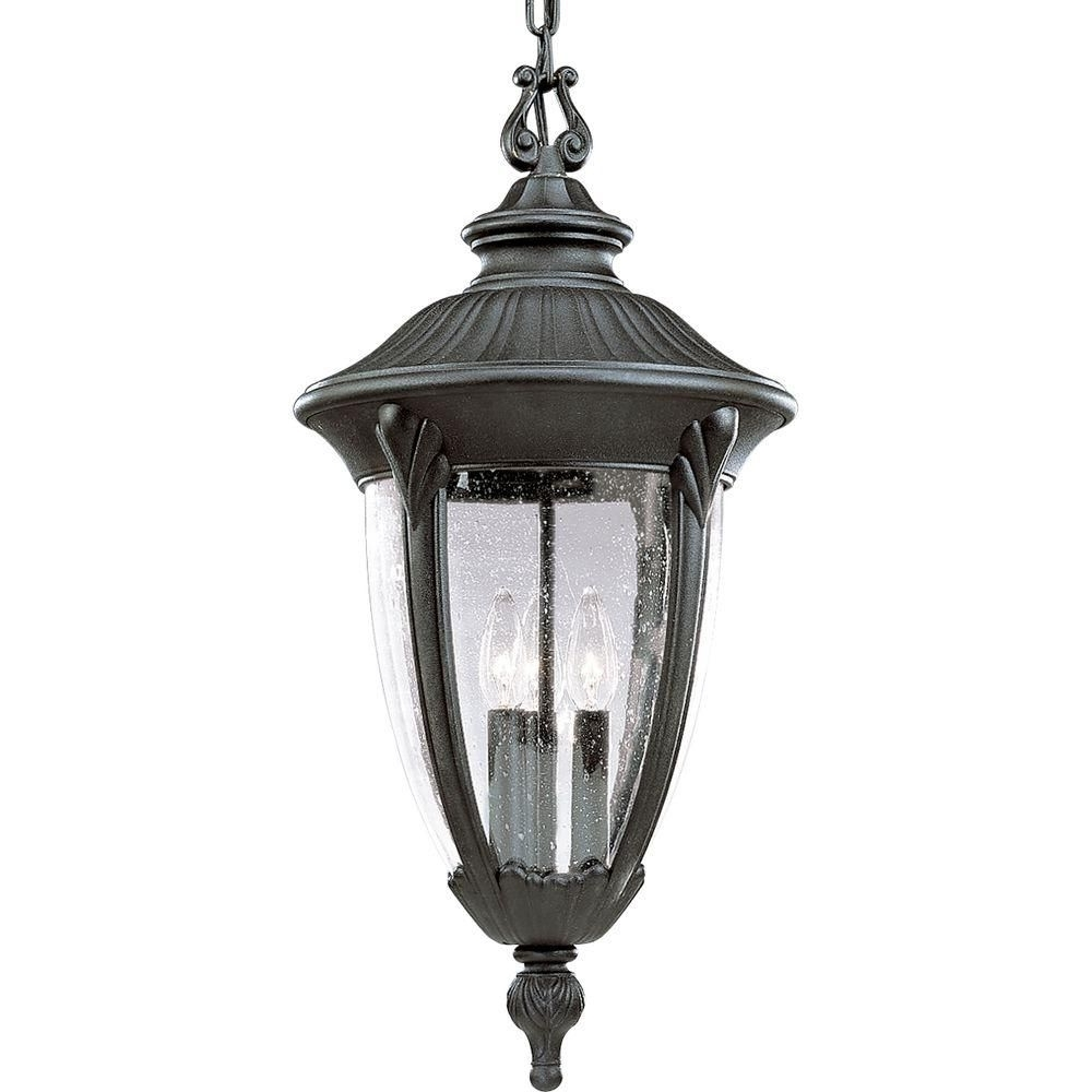 Well Liked Meridian Collection 3 Light Textured Black Outdoor Wall Lantern With Black Outdoor Lanterns (View 20 of 20)