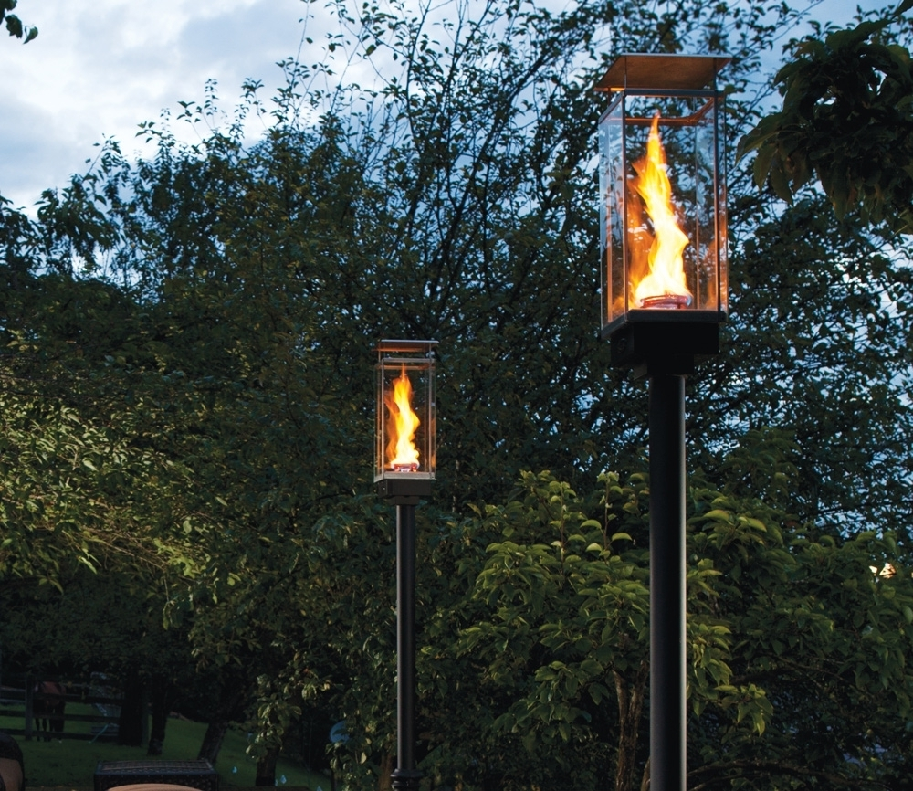 Well Liked Outdoor Gas Lanterns Regarding Outdoor Gas Lamps And Lighting Tempest Torch Within Natural Gas (View 7 of 20)