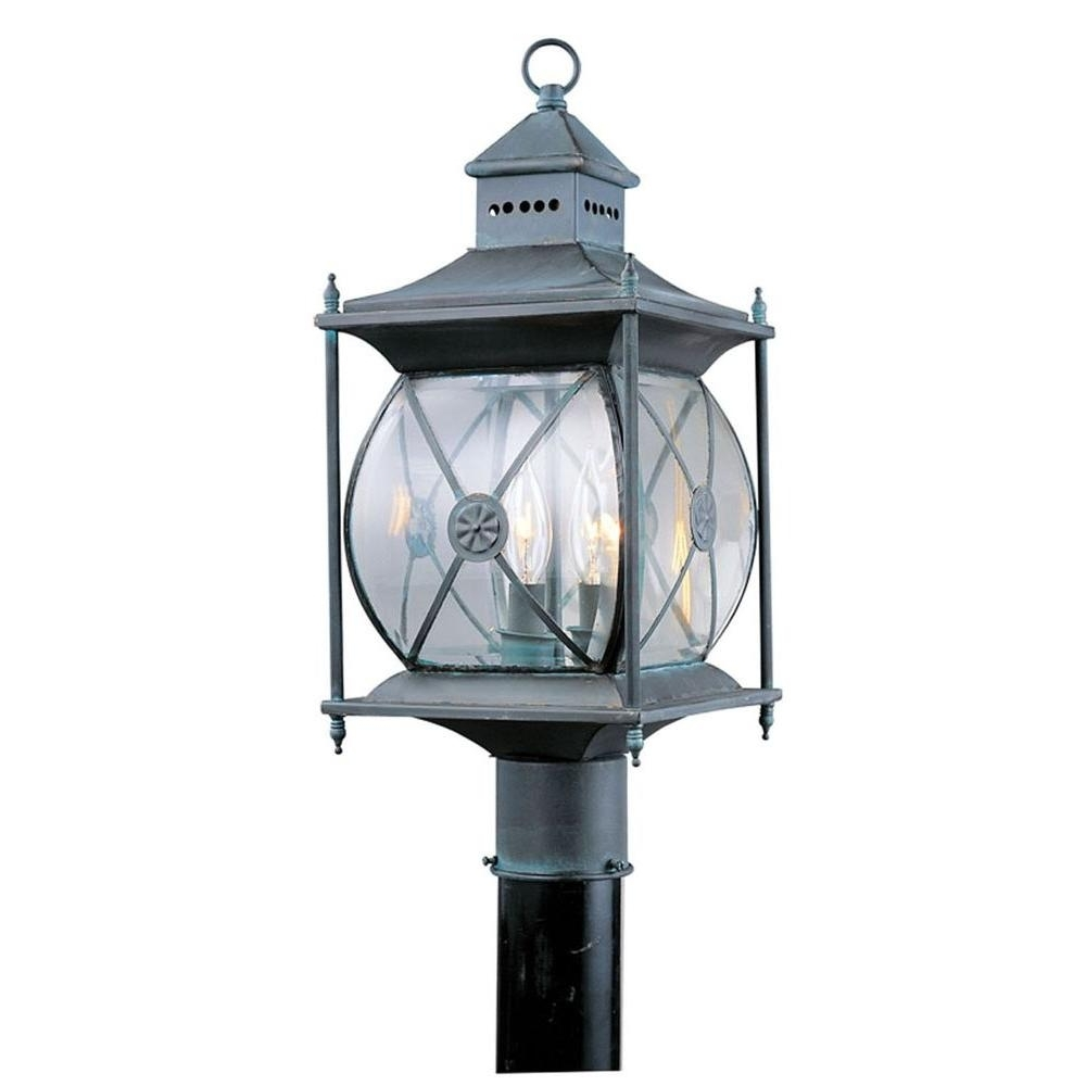 Well Liked Outdoor Grey Lanterns In Livex Lighting Providence 2 Light Outdoor Grey Incandescent Post (View 14 of 20)