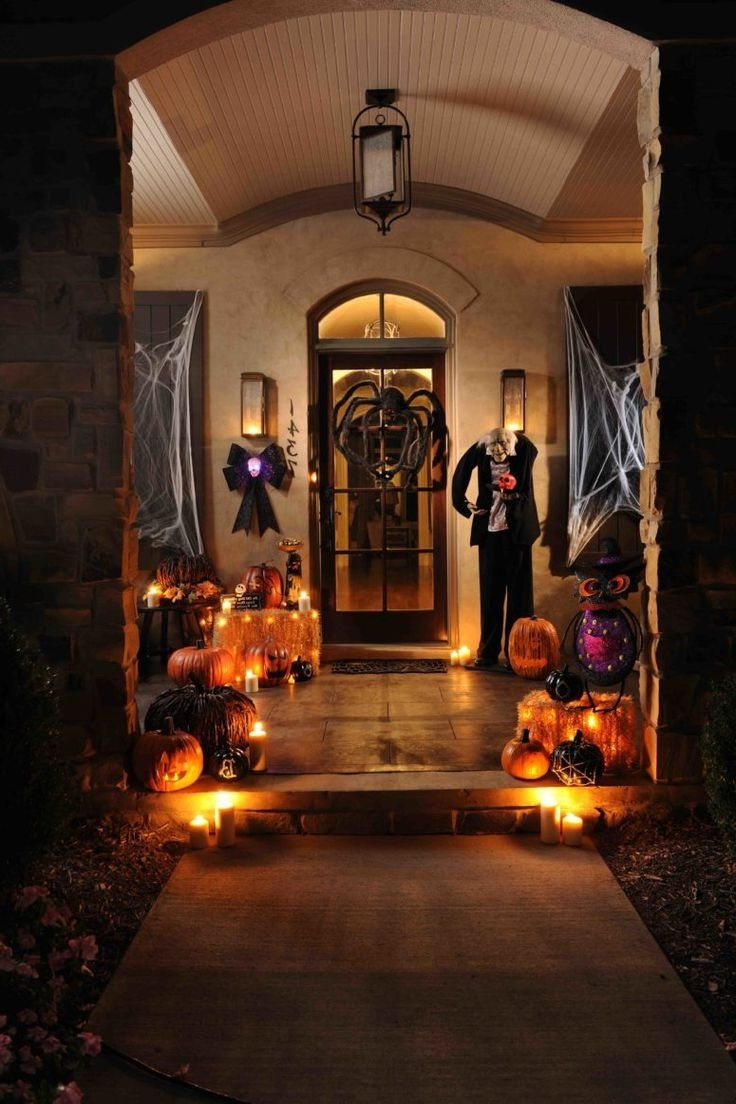 Well Liked Outdoor Halloween Lanterns Inside Memorable Halloween With Spooky Outdoor Decorations At Hometren (View 9 of 20)