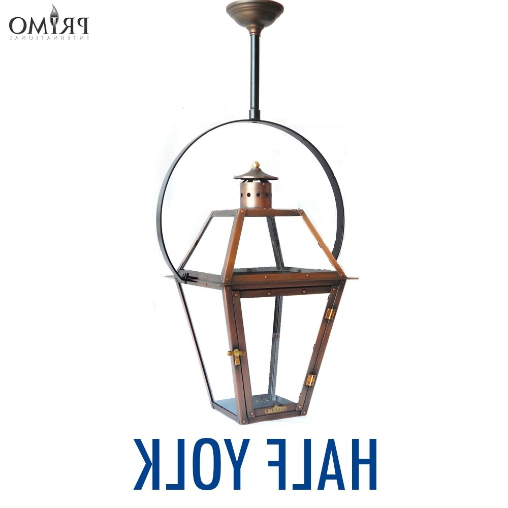 Well Liked Outdoor Hanging Electric Lanterns Pertaining To Royal Gas Or Electric Copper Lanternprimo – French Market Lanterns (View 18 of 20)