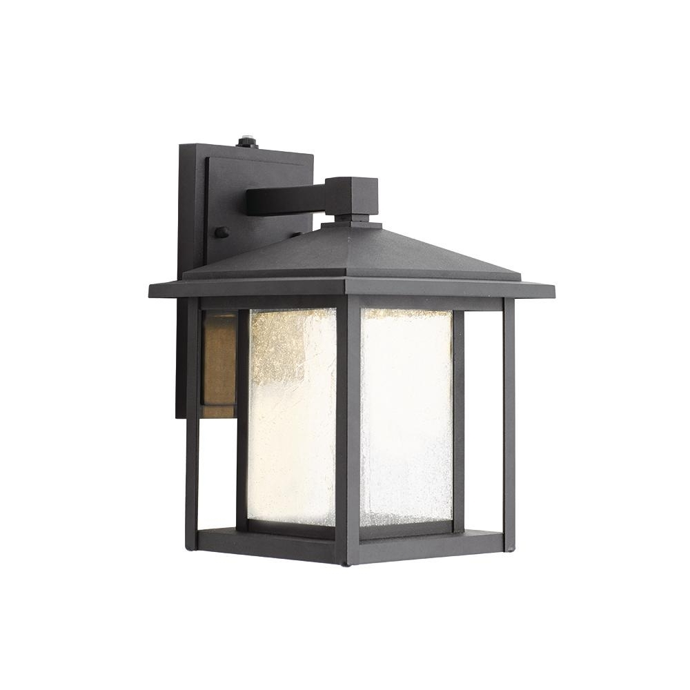 Well Liked Outdoor Lanterns Without Glass Throughout Home Decorators Collection Black Outdoor Seeded Glass Dusk To Dawn (View 16 of 20)