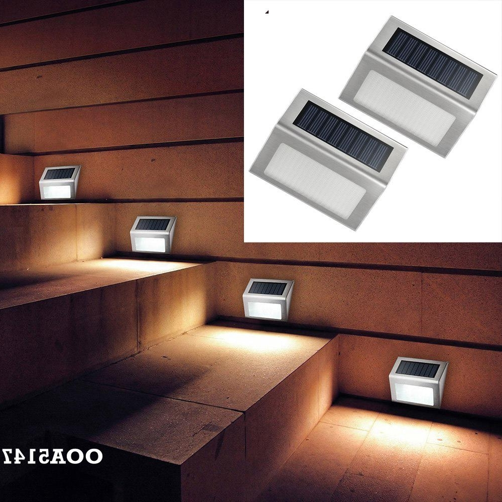 Well Liked Outdoor Lawn Lanterns With Solar Led Garden Patio Step Stair Deck Lights Waterproof Outdoor (View 19 of 20)