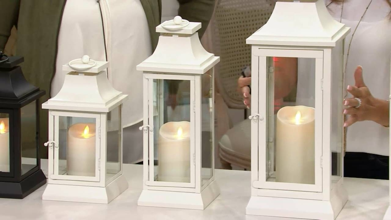 Well Liked Outdoor Luminara Lanterns Within Luminara Heritage Indoor Outdoor Lantern With Flameless Candle (View 4 of 20)