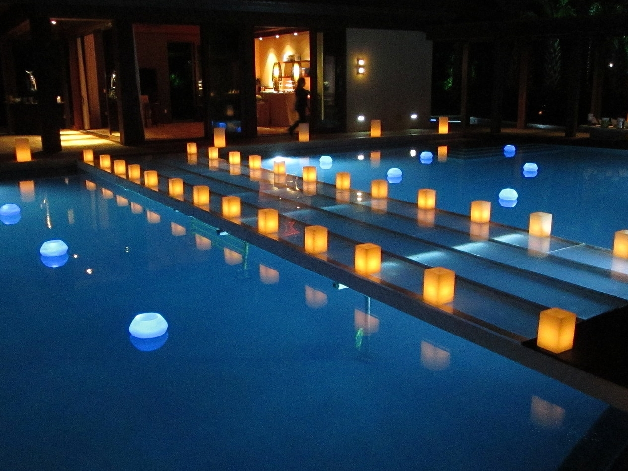 Well Liked Outdoor Pool Lanterns With Regard To Swimming Pool Candles – Image Antique And Candle Victimassist (View 9 of 20)