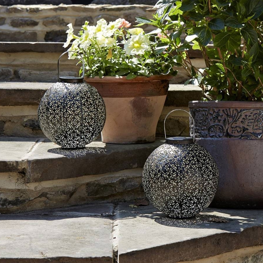 Well Liked Outdoor Solar Lanterns Intended For Damask Solar Lantern (View 13 of 20)