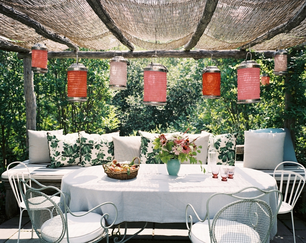 Well Liked Outdoors: Patio With Paper Lanterns – Porch Vs (View 20 of 20)