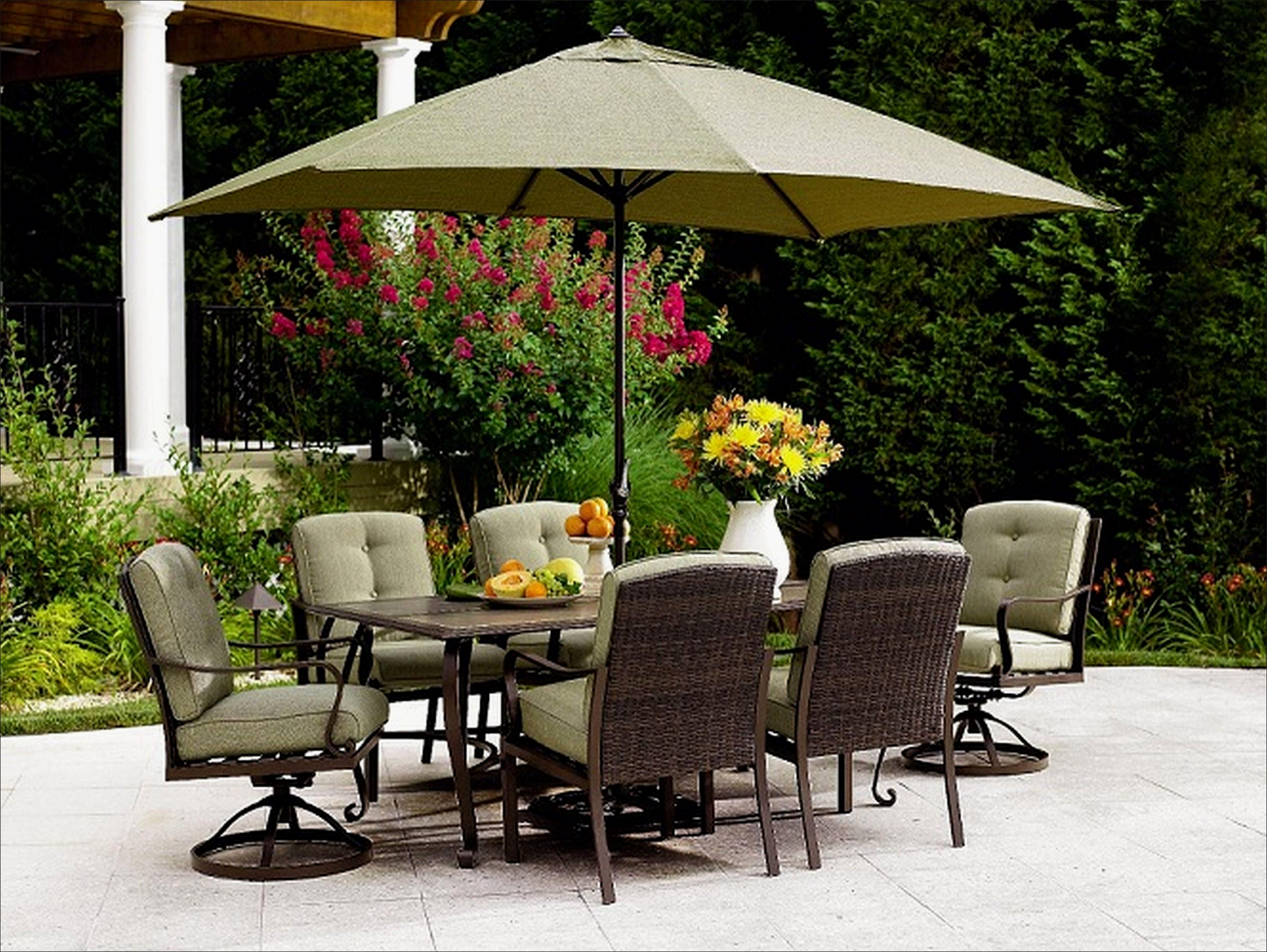 Well Liked Patio Furniture Sets With Umbrellas Throughout 46 Best Of Sears Patio Furniture Sets Images (View 5 of 20)